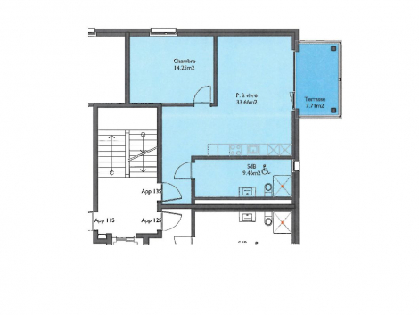 Appartement neuf de 2.5 pièces au 1er étage