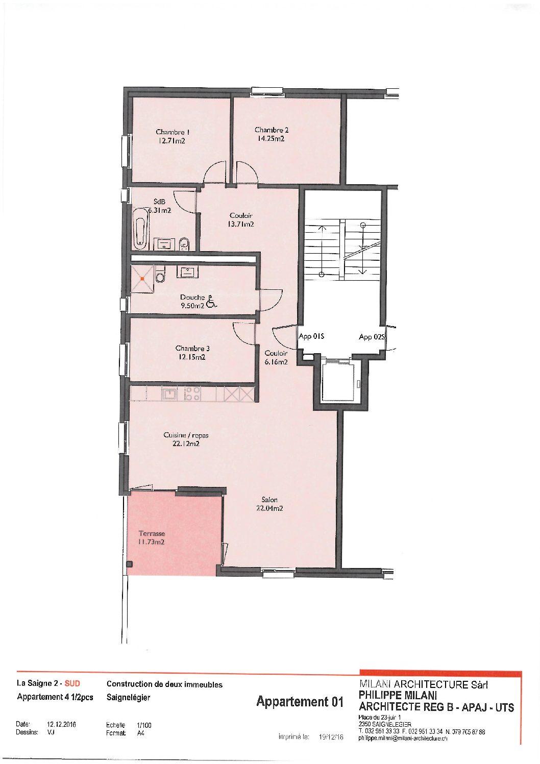 Appartement neuf de 4.5 pièces au rez-de-chaussée