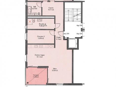 Appartement neuf de 4.5 pièces au 2ème étage