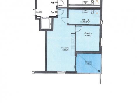 Appartement neuf de 2.5 pièces au 2ème étage