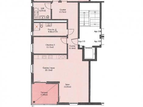 Appartement neuf de 4.5 pièces au 3ème étage